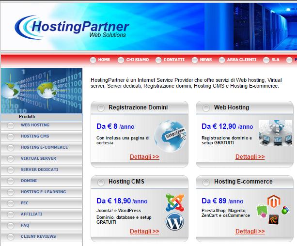 Acquista l'hosting per il tuo blog